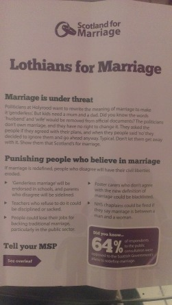 Front of Lothians for Marriage